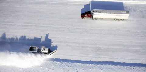 Ice Road Truckers. Foto AETN/TV4.