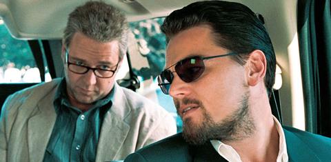 Russell Crowe och Leonardo DiCaprio.